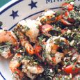 Grilled Shrimp with Basil, Garlic and Tomatoes