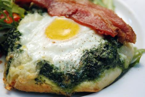 Eggs Florentine Brunch Pizza Recipe   Stephencooks
