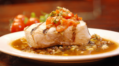 Grilled Swordfish with Lentils