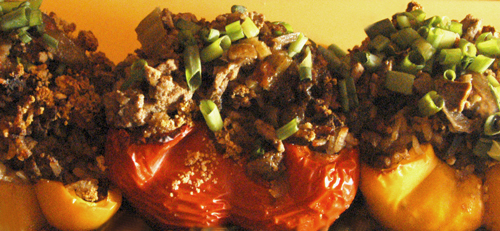 Dirty Rice Stuffed Peppers