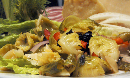 Brussels Sprouts Antipasto Salad