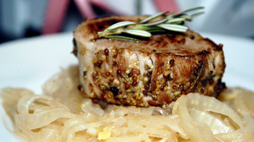 Seared Pork Medallions with Braised Fennel