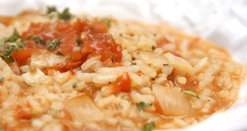 Slow-Roasted Tomato Risotto