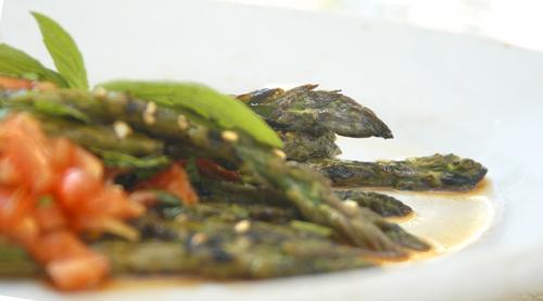 Grilled Asparagus à la Sutherland