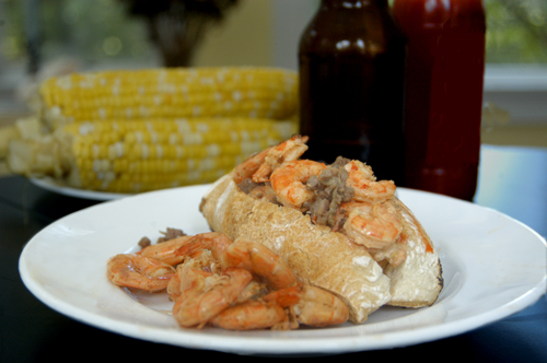 Beer-Boiled Shrimp Po'Boy