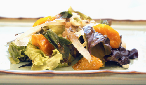 Simple Salad with Roasted Yellow Tomatoes and Vidalia Onions
