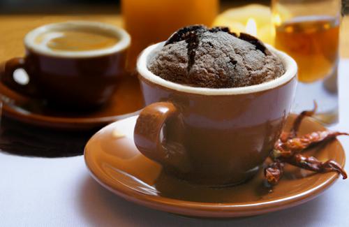 Fiery, Dark, Dangerous Chocolate Soufflé