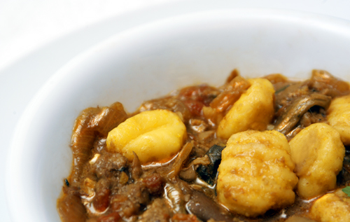 Gnocchi with Duck Liver and Porcini