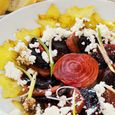 Salad with Star Fruit, Roasted Beets, and Goat Cheese