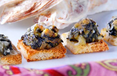 Oysters Rockefeller Bites