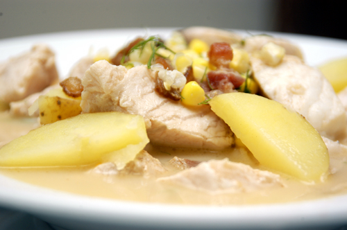 Fish Chowder with Fennel and Corn