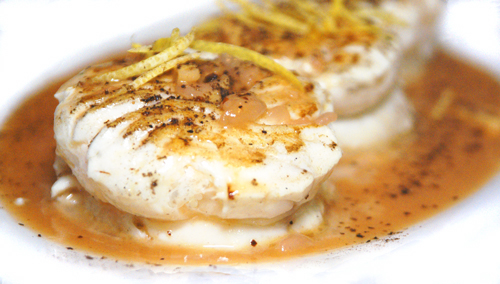 Seared Halibut with Ginger, Lemon and Garam Masala