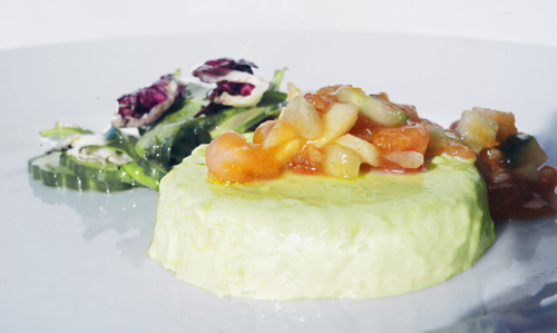 Avocado Mousse with Persimmon-Apple Salsa
