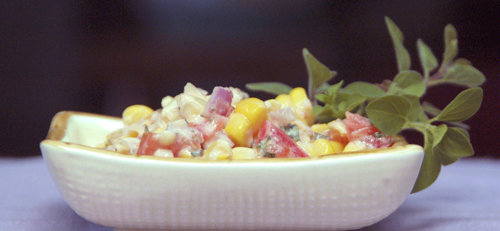 Creamy Corn Salad with Tomatoes