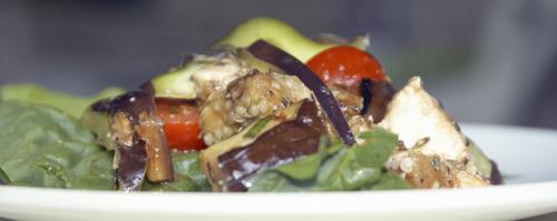 Mediterranean Grilled Eggplant Salad