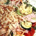 Spaghetti Salad with Vegetables and Crunchy Garlic