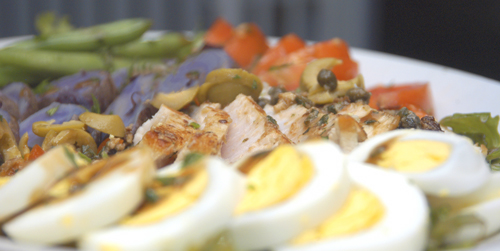 Seared Swordfish Niçoise Salad