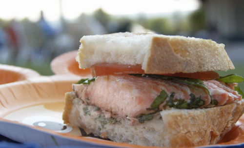 Grilled Salmon Sandwich Recipe | Stephencooks