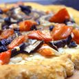 Eggplant and Late Summer Tomato Pizza