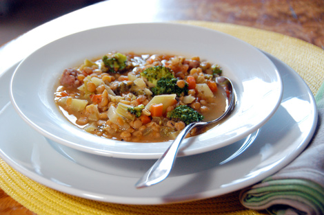 Lentil-sausage-stew