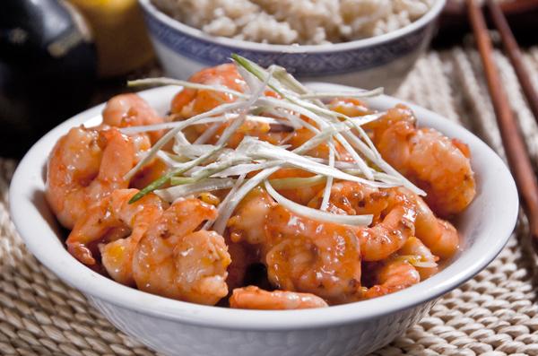 Maine Shrimp with Lemon-Ginger Sauce