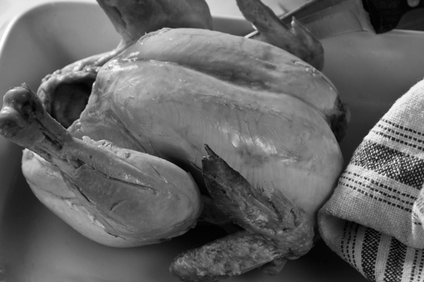 Poached-chicken