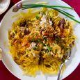Spaghetti Squash & Mushroom Gratin