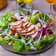 Apple Salad with Gorgonzola, Bacon and Candied Walnuts