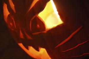 Jack-o-Lantern Pumpkin Quiche
